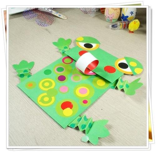 탑키드 [종이공작]잼있는 손인형만들기-개구리