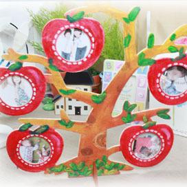 탑키드 [반제품]사과 행운나무액자