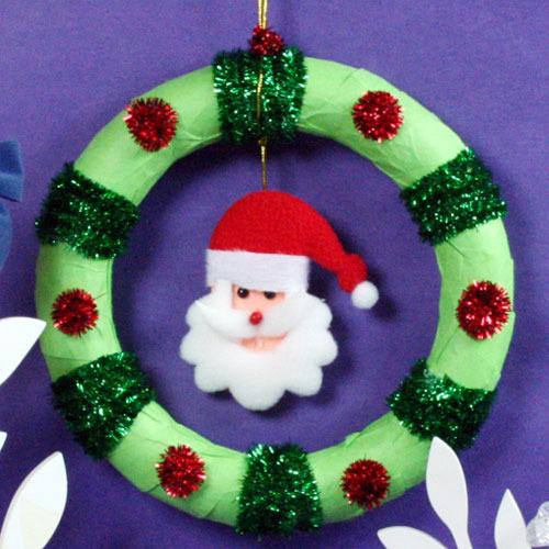 탑키드 [만들기]크리스마스 산타 리스(15set)
