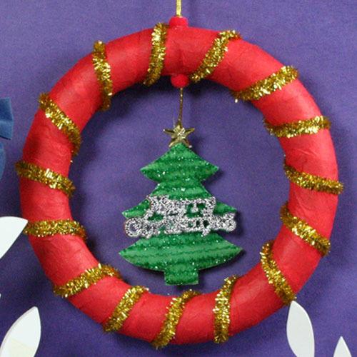 탑키드 [만들기]크리스마스 트리 리스(15set)