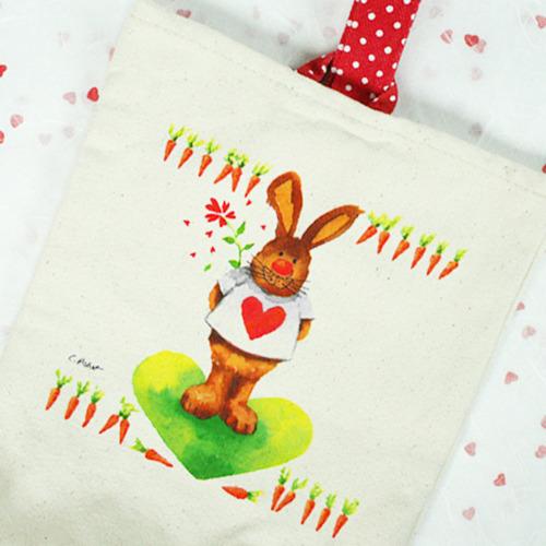 탑키드 [냅킨아트]에코가방-땡땡이 손가방(10set)