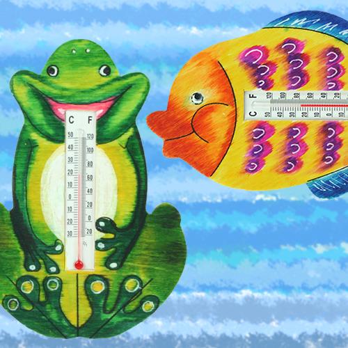 탑키드 [반제품]온도계-개구리/물고기